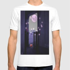 Basking In The Moon Showers  Mens Fitted Tee MEDIUM White