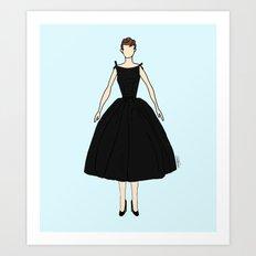 Audrey Hepburn Vintage Retro Fashion 1 Art Print