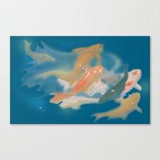 koi {blue} Canvas Print
