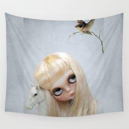 Erregiro Blythe Custom Doll, The White Horse Wall Tapestry