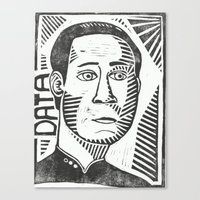data Canvas Prints featuring Data by Peter Dunne