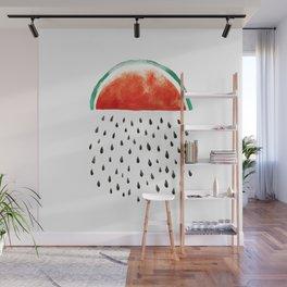 watermelon rain Wall Mural