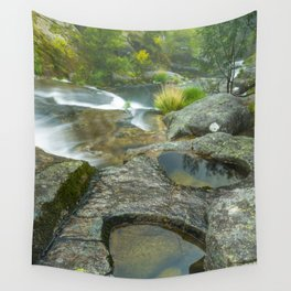 Natural pools in mountain river Wall Tapestry