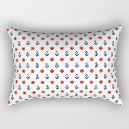 Maritime Seaside Beach Pattern - Anchors and Wheels - Mix & Match with Simplicity of life Rectangular Pillow