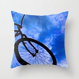 Sky Bike Throw Pillow