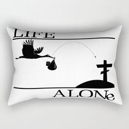 Life Alone Rectangular Pillow