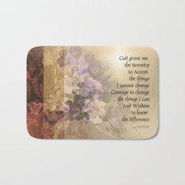 Serenity Prayer Quince and Fence 2 Bath Mat