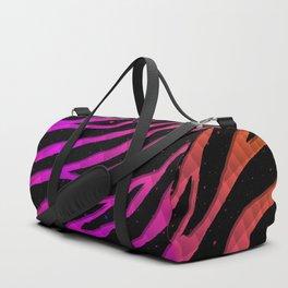 Ripped SpaceTime Stripes - Orange/Pink Duffle Bag