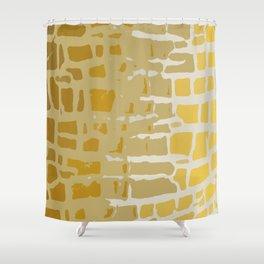 Giraffe Texture Print Shower Curtain