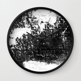 Black & white textured abstract Wall Clock
