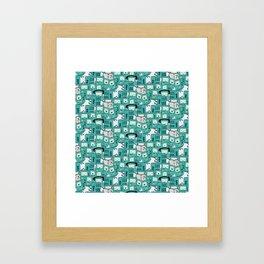 BMO patterns Framed Art Print