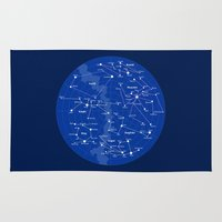 constellations Area & Throw Rugs featuring Superheroes Constellations by tuditees