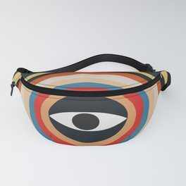 Third Eye Retro Colors Circle Fanny Pack