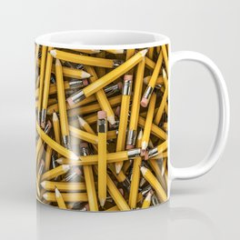 Pencil it in / 3D render of hundreds of yellow pencils Coffee Mug