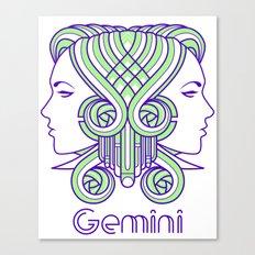 Deco Gemini Canvas Print
