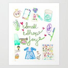 Small Shop Joy Art Print