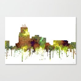 Durham, NC Skyline SG - Safari Buff Canvas Print