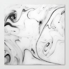 Elegant white marble image Canvas Print