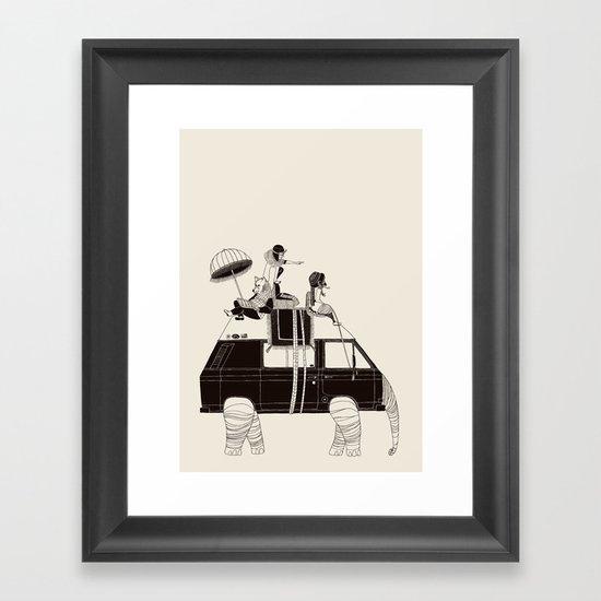Going by Elephant Framed Art Print
