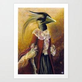 Lady Dragon Art Print