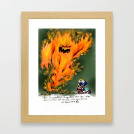Doodles & Dragons - Mini Encounters Framed Art Print