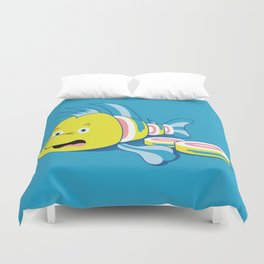 Flounder Sushi Duvet Cover