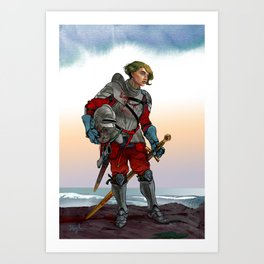 Knight of the Blackrocks Art Print