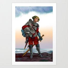 Knight of the Blackrocks Art Print