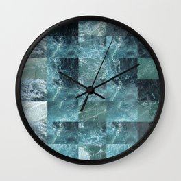 Abstract sea Wall Clock