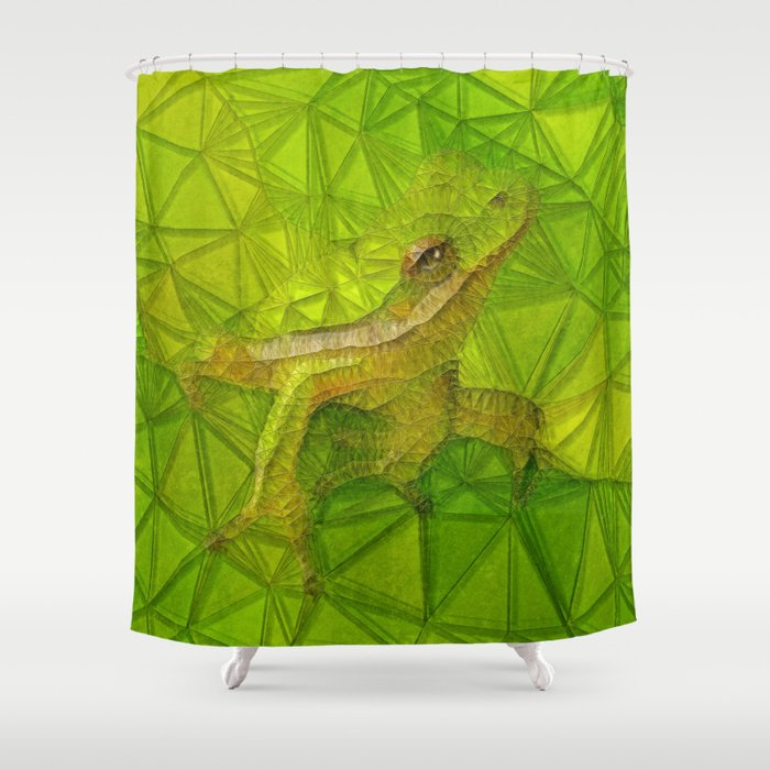 Hidden Frog Shower Curtain By Ancello