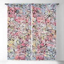 Crescendo - Jackson Pollock style abstract drip canvas art by Rasko Blackout Curtain
