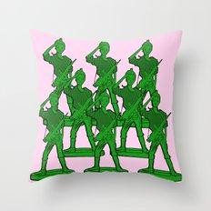 Barbie Army! Throw Pillow