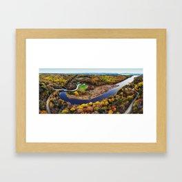 Acacia Valley Panorama Framed Art Print