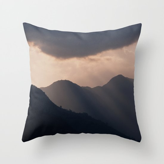 let there be night Throw Pillow