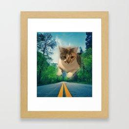 Super Kitty Framed Art Print