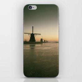 Sunrise at Kinderdijk IV iPhone Skin