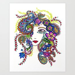 """EVE"" Girl No.24 Original Design by Peri Allen Art Print"