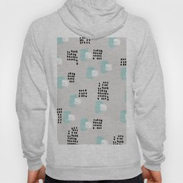 Cubic paint abstract ink pattern design mint Hoody