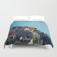 italy Duvet Covers featuring Italy by Rupert & Company