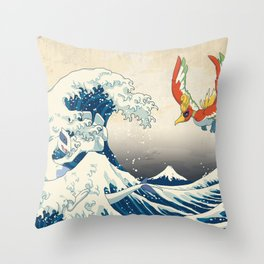 The Great Wave Off the Orange Islands Throw Pillow