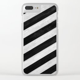 Wood lines Clear iPhone Case