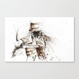 Rorshach - Watercolor splatter Artwork Canvas Print