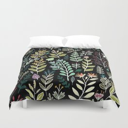 Dark Botanic Duvet Cover