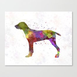 Wirehaired Slovakian Pointer in watercolor Canvas Print