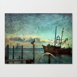Somewhere...beyond the sea Canvas Print