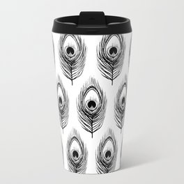 Peacock Feather pattern Travel Mug