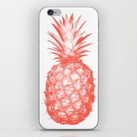 pinapple iPhone & iPod Skins featuring Coral Pineapple by CumulusFactory