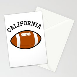 California American Football Design black lettering Stationery Cards