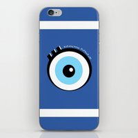 evil eye iPhone & iPod Skins featuring Evil Eye by Monica Barela-Di Bisceglie