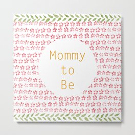 Mommy to be - watercolour pattern Metal Print